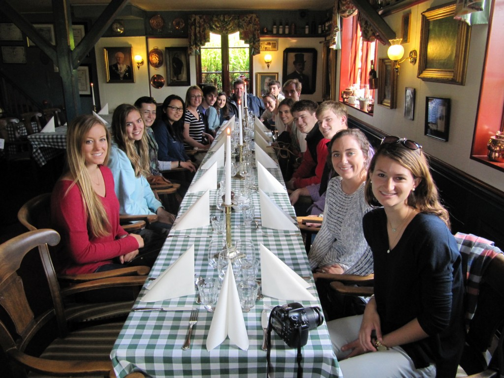 CSR Class out to Dinner in Denmark